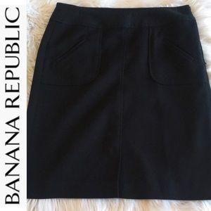 Banana republic black skirt  size 4